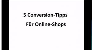 5 Conversion Tipps für Online Shops