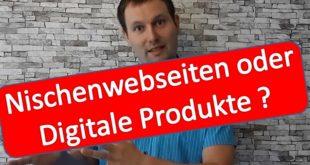 Online Geld verdienen Nischenwebseiten oder Digitale Produkte