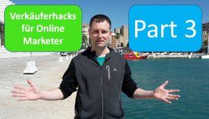 Verkäuferacks für Online Marketer Part 3