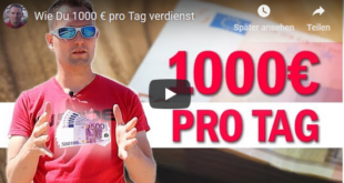 1000 Euro pro Tag